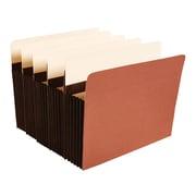"Staples® 5-1/4"" Heavy-Duty Expanding Pockets, Letter Size, Brown, 10/Box (C1534G-SB)"