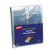 Staples Poly Envelopes with Top Opening, Letter, Clear, 10/Pack