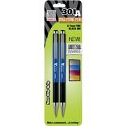 Zebra 301A Aluminum Retractable Ballpoint Pens - 0.7mm Assorted 2pk (27502)