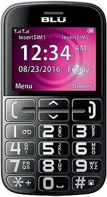 BLU Joy J010 Unlocked GSM Senior Friendly Phone - Black