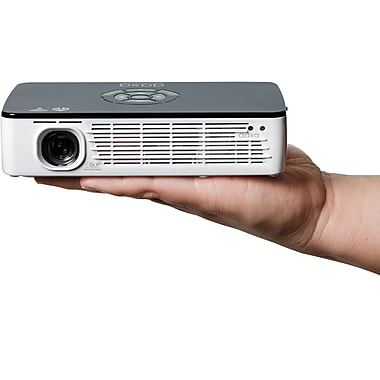 AAXA P700 Pro WXGA HD LED Pico Projector, Black/White
