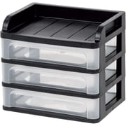 IRIS USA, Inc. Medium Plastic Desktop Drawer System, Black (150181)