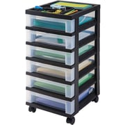 Staples® 6 Drawer Storage Cart, Black