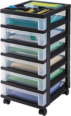 Staples® 6-Drawer Storage Cart, 26 3/8