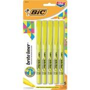 BIC® Brite Liner® Pocket Highlighter Yellow 5pk