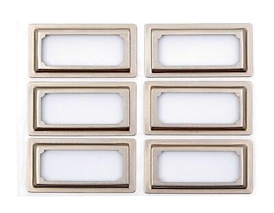 Martha Stewart Binder Bookplates, 6-pack, Silver (51121)