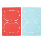 Martha Stewart Adhesive Chalkboard Labels, Blue/Persimmon, 2-pack (51125)