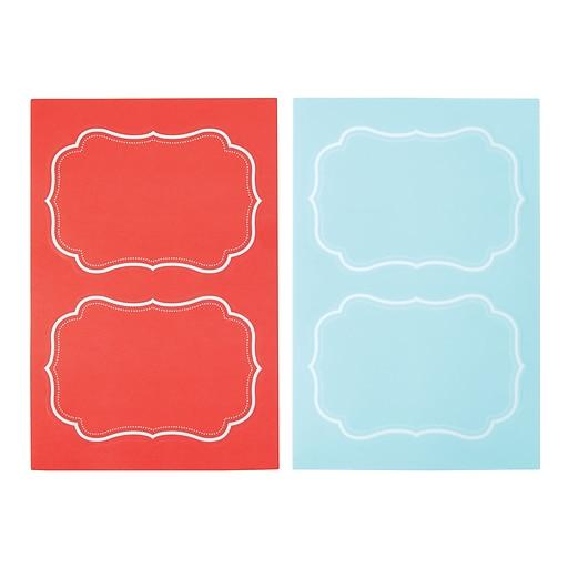 Martha Stewart Adhesive Chalkboard Labels, Blue/Persimmon, 2-pack (51125)
