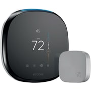 Ecobee4 Wi-Fi Thermostat with Room Sensor and Built-In Alexa Voice Service, Black (EB-STATE4-01)