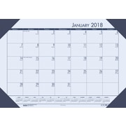 2018 House of Doolittle 22 X 17 Desk Pad Calendar EcoTones Blue (124-40)