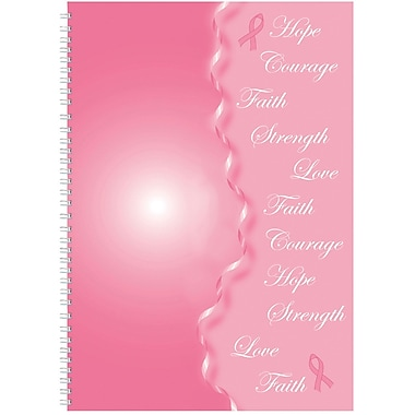2018 House of Doolittle 7 x 10 Monthly Journal Breast Cancer Awarness Pink/Gray (5226)