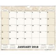 2018 House of Doolittle 14 7/8 x 12 Wall Calendar Marble Tan (319)