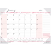 "2018 House of Doolittle 18 1/2"" x 13"" Desk Pad Calendar Breast Cancer Awareness Pink (1466)"