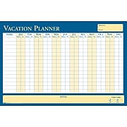 "House of Doolittle 36"" x 24"" Reversible All Purpose/Vacation Planner, Yellow/Blue (639)"