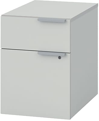HON® Voi® Mobile Pedestal, 2 Drawers, Brilliant White (HONVMP24XW)