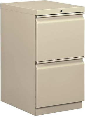 HON 2 Drawer Vertical File Cabinet, Putty, 20