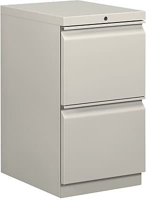 basyx by HON® 2 Drawer Vertical File Cabinet, Light Gray, 20