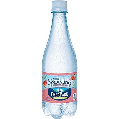 DEER PARK Sparkling Natural Spring Water, Watermelon Lime 16.9-ounce Plastic Bottle, 24/Case