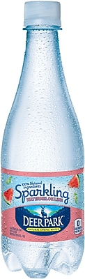 DEER PARK Sparkling Natural Spring Water, Watermelon Lime 16.9-ounce Plastic Bottle, 24/Case