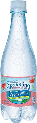 Zephyrhills® Sparkling Natural Spring Water, Watermelon Lime 16.9 Ounce Plastic Bottle, 24/Case (12269812)