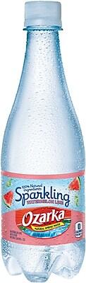 OZARKA Sparkling Natural Spring Water, Watermelon Lime 16.9-ounce Plastic Bottle, 24/Case