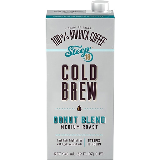 Steep 18 Donut Blend Shelf Stable Cold Brew Coffee 32oz