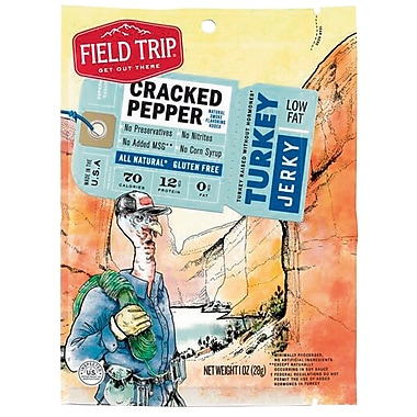 Field Trip Cracked Pepper Turkey Jerky, 1oz, 12/CT
