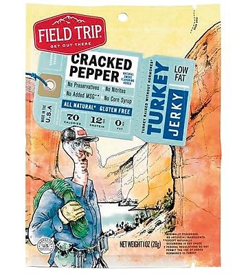 Field Trip Cracked Pepper Turkey Jerky, 1oz, 12/CT