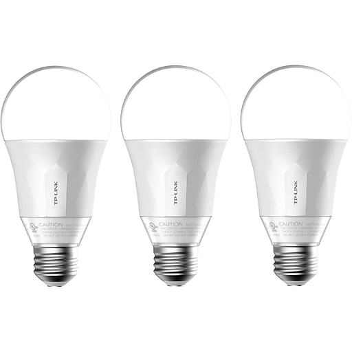 TP-Link 50W Smart Wi-Fi LED Bulb with Dimmable White Light, 3-Pack (LB100 TKIT)