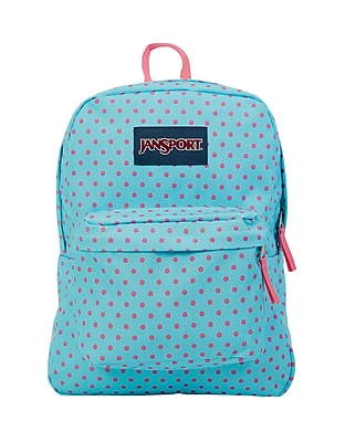 JanSport Superbreak Blue Topaz/Kiss Dot-o-Rama