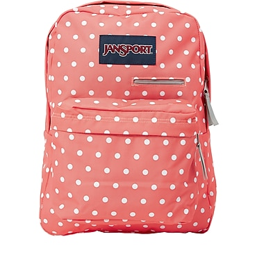 Jansport Digibreak Backpack, Coral Sparkle White Dots (T50F0NR ...