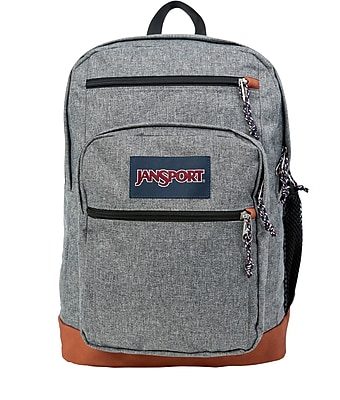 JanSport Cool Student Backpack, Grey Letterman Poly (JS0A2SDD3CL)