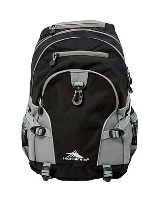High Sierra Loop Black Charcoal Polyester Backpack (53646-1053)