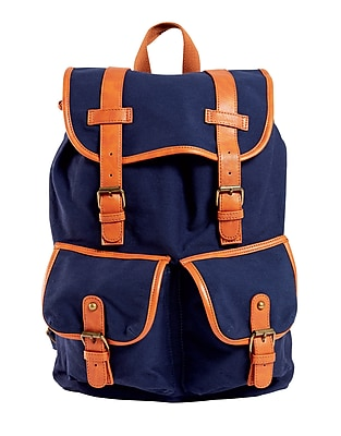 Staples Canvas Rucksack Backpack, Navy (51040)