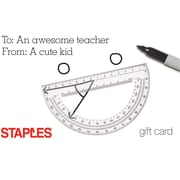 Staples Cute Kid Gift Card