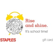 Staples School Time Gift Card