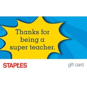 Staples Super Teacher Gift Card $50 (Email Delivery)