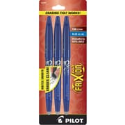 Pilot FriXion Ball Erasable Gel Ink Pens, Fine Point, Blue, 3/Pack (31567)