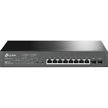 TP-Link JetStream 8-Port Gigabit Smart PoE+ Switch with 2 SFP Slots (T1500G-10MPS)