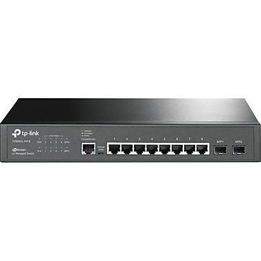 TP-Link JetStream 8-Port Gigabit L2 Managed Switch with 2 SFP Slots (T2500G-10TS)