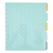 Martha Stewart Discbound™ Dividers with Pockets, Side-Tab Format, Blue (44912)