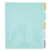 Martha Stewart Discbound™ Dividers with Pockets, Side-Tab Format, Blue (44912)
