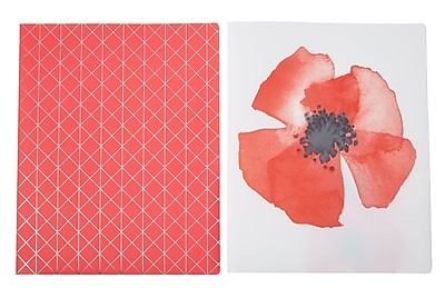 Martha Stewart Two-Pocket Folder, Letter Size, Persimmon, 2-pack (51094)