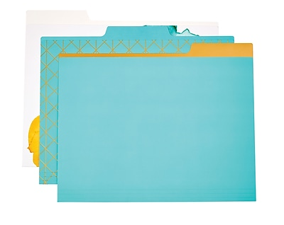 Martha Stewart Horizontal File Folder, Letter-size, Blue, 6-pack (44921)