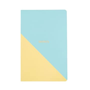 Martha Stewart Stitched Notebook, Junior-Size, Blue/Persimmon (51095)