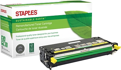 Staples® Remanufactured Yellow Toner Cartridge, Dell 3115 (310-8401, XG724), High Yield