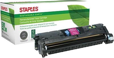 Staples® Remanufactured Magenta Laser Toner Cartridge, HP 121A/122A/123A (C9703A/Q3963A/Q3973A)