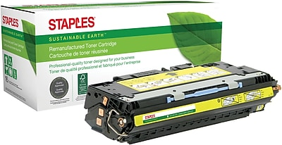 Staples® Remanufactured Color Laser Toner Cartridge, HP 309A (Q2672A), Yellow