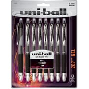 uni-ball 207 Retractable Gel Pens, Medium Point (0.7mm), Black, 8 Count (1756584)