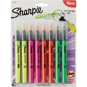 Sharpie Clear View Highlighters Stick, Assorted Fluorescent, 8 Pack (1966798)